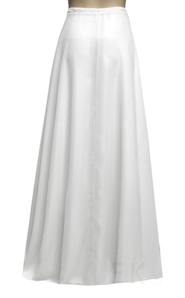 Wedding Chiffon Skirt White Bridal Separates Bridesmaid Skirt A-line Floor Length Skirt Prom Skirt