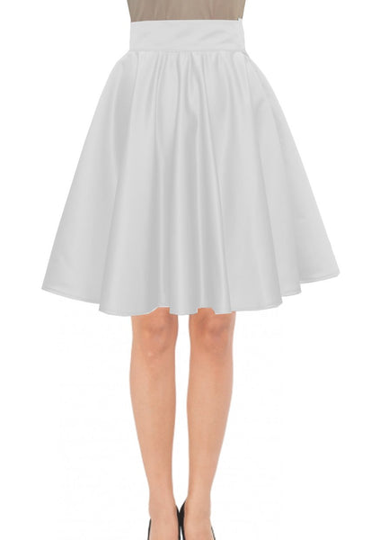 Knee Length Skirt White Duchess Skirt Prom Formal Evening Party Skirt