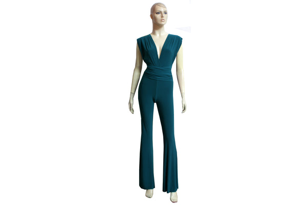 Bridesmaid Jumpsuit Teal Infinity Playsuit Multi Way Overall Convertible Plus Size Prom Outfit Formal Flare Pants Jumpsuit XS-4XL