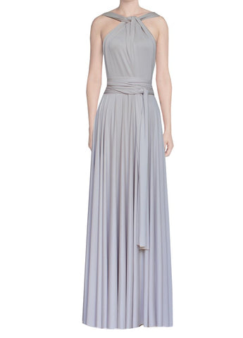 Long infinity bridesmaid dress Neutral color convertible gown for prom, evening or formal occasions XS-5XL