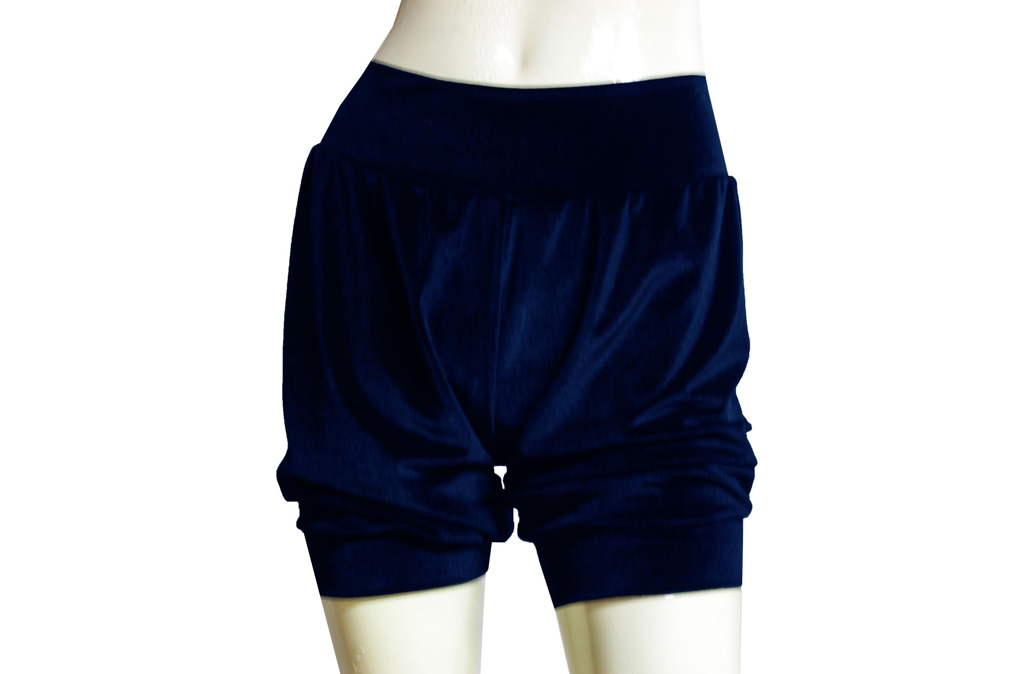 Navy blue shorts Velvet bloomers Ballet dance shorts Festival bottoms Rave party shorts