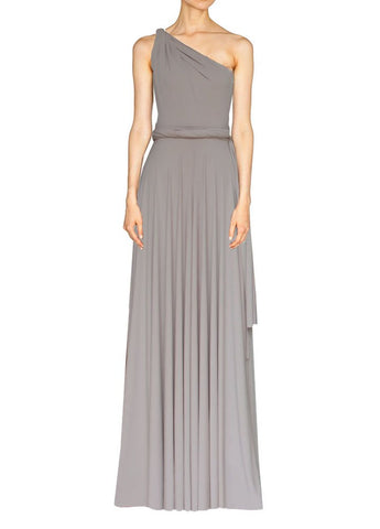 Long infinity bridesmaid dress Warm taupe convertible gown for prom, evening or formal occasions XS-5XL