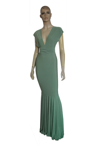 Sage Green Bridesmaid Dress Mermaid dress Infinity gown Convertible long dress Multiway plus size dress Prom fish tail gown XS-5XL