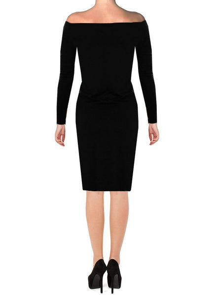 Off the shoulders dress Black long sleeved cocktail & formal gown