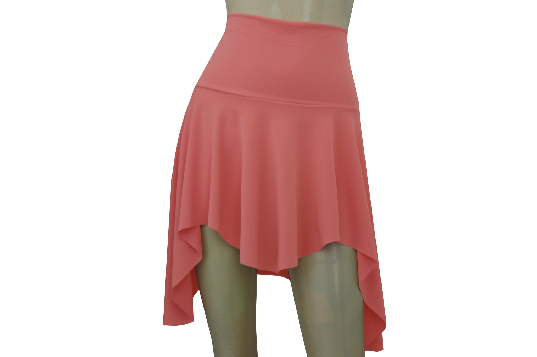 Pixie Skirt Coral Skater Skirt Elf Tribal Sexy Skirt Dance Flirty Beach Skirt