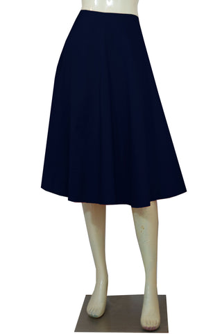 Navy Blue taffeta skirt in tea length for formal or evening occasions XS-4XL