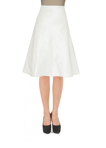 Ivory taffeta skirt in knee length for formal or evening occasions XS-5XL