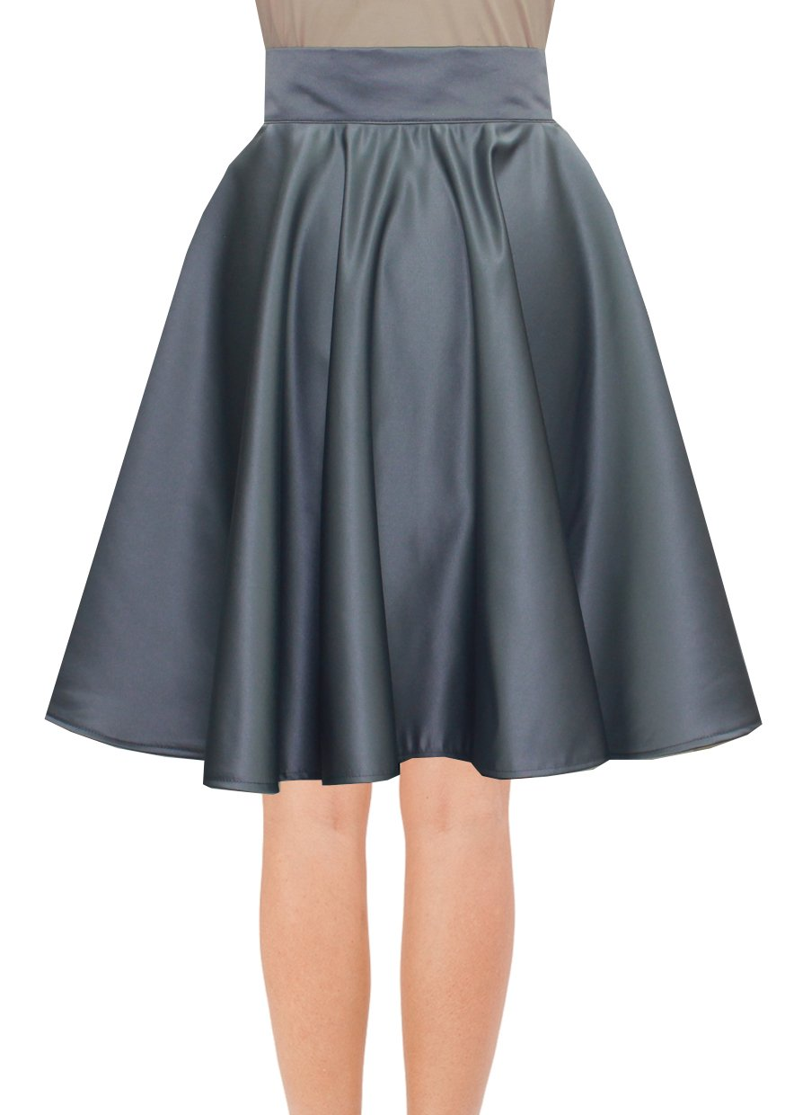 Knee Length Skirt Peach Duchess Skirt Prom Formal Evening Party Skirt