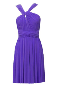 Infinity wrap bridesmaids dress Purple convertible short dress Plus size prom evening formal short dress XS S M L XL 0XL 1XL 2XL 3XL 4XL 5XL