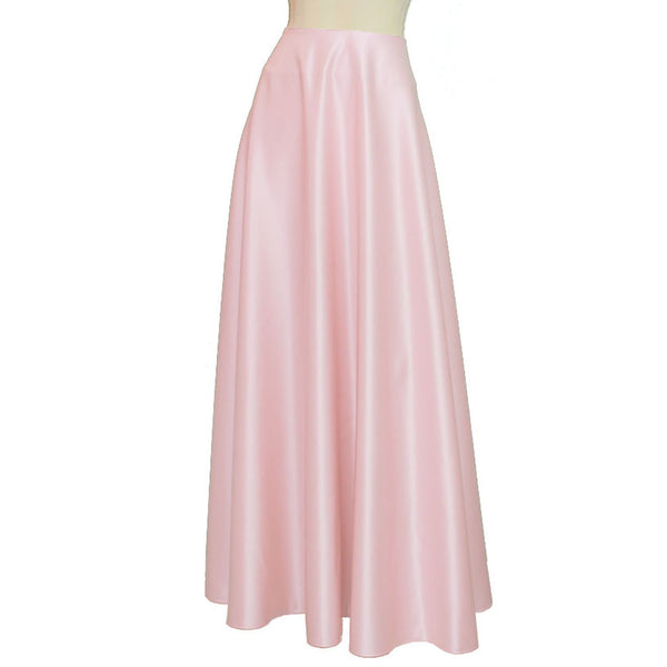 Maxi formal skirt Bridesmaid wedding long skirt Powder pink duchess floor length skirt