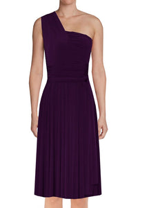 9867a887f57 Short convertible bridesmaid dress Deep purple infinity gown for prom –  EK-fashion.com