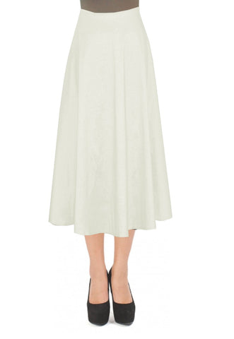 Off White taffeta skirt in tea length for formal or evening occasions XS-4XL