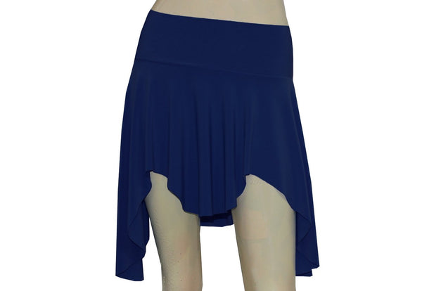 Pixie Mini Skirt Navy Blue Elf Tribal Sexy Skirt Dance Skater Flirty Beach Skirt
