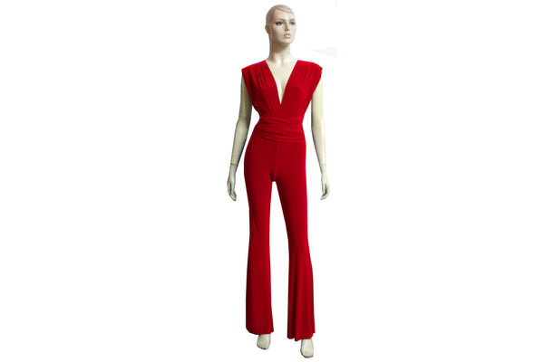 Infinity Red Jumpsuit Bridesmaid Convertible Playsuit Multiway Overall Plus Size Prom Outfit Formal Flare Pants Jumpsuit XS-4XL