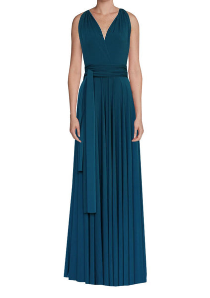 Infinity bridesmaid dress Dark teal convertible gown for prom, evening or formal occasions XS-5XL