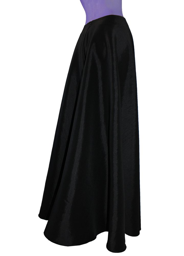 Black taffeta skirt in maxi length for wedding formal or evening occasions XS-3XL
