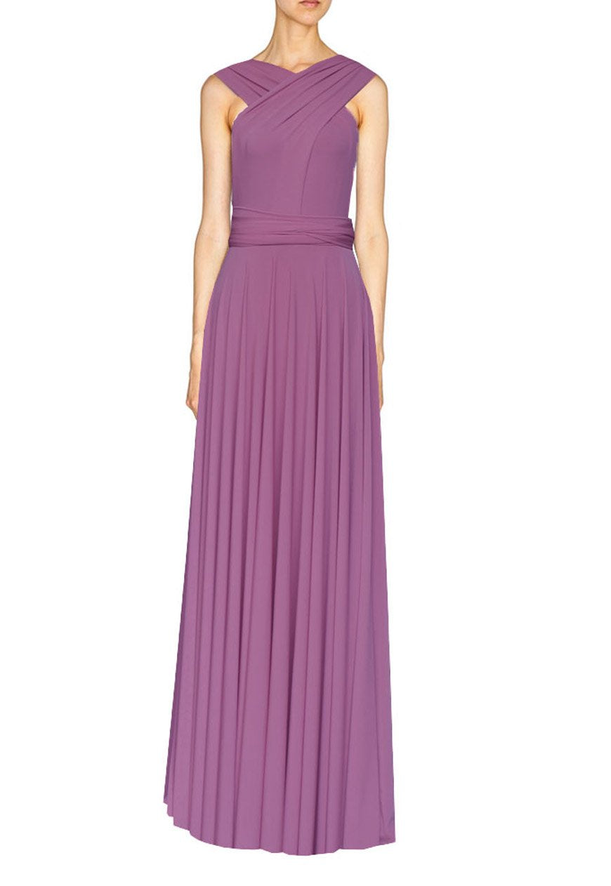 Long infinity bridesmaid dress French lilac convertible gown for prom, evening or formal occasions XS-5XL