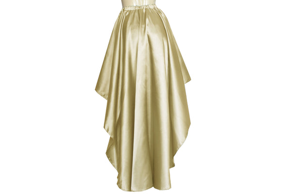 Champagne wedding skirt Light gold satin skirt Bridesmaids skirt Plus size prom formal mullet skirt XS-5XL