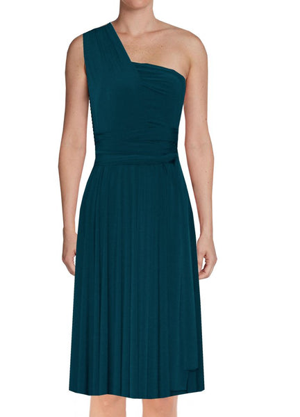 Convertible bridesmaid dress Dark teal infinity plus size dress Prom evening formal twist wrap dress XS S M L XL 0XL 1XL 2XL 3XL 4XL 5XL