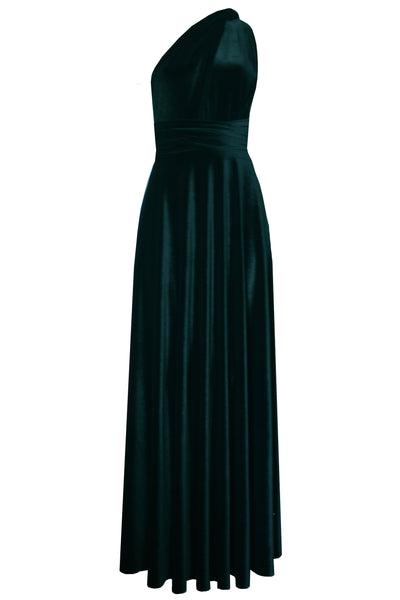 Velvet convertible dress Teal dress Infinity bridesmaids dress Long plus size prom gown Formal maternity dress XS-5XL