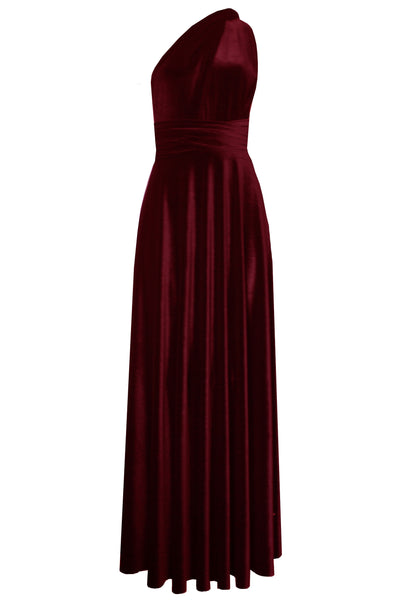 Convertible velvet dress Bridesmaids infinity dress Wine multi wrap dress Long plus size prom gown Formal maternity dress XS-5XL