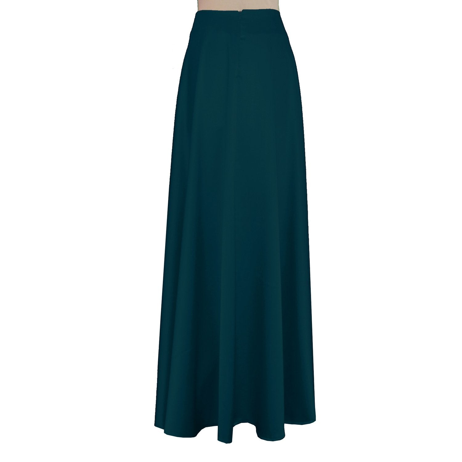 Maxi formal skirt Royal blue bridesmaid wedding long skirt Duchess floor length skirt