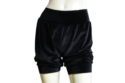 Black velvet shorts Sexy pinup bloomers Ballet shorts Festival bottoms Rave party shorts