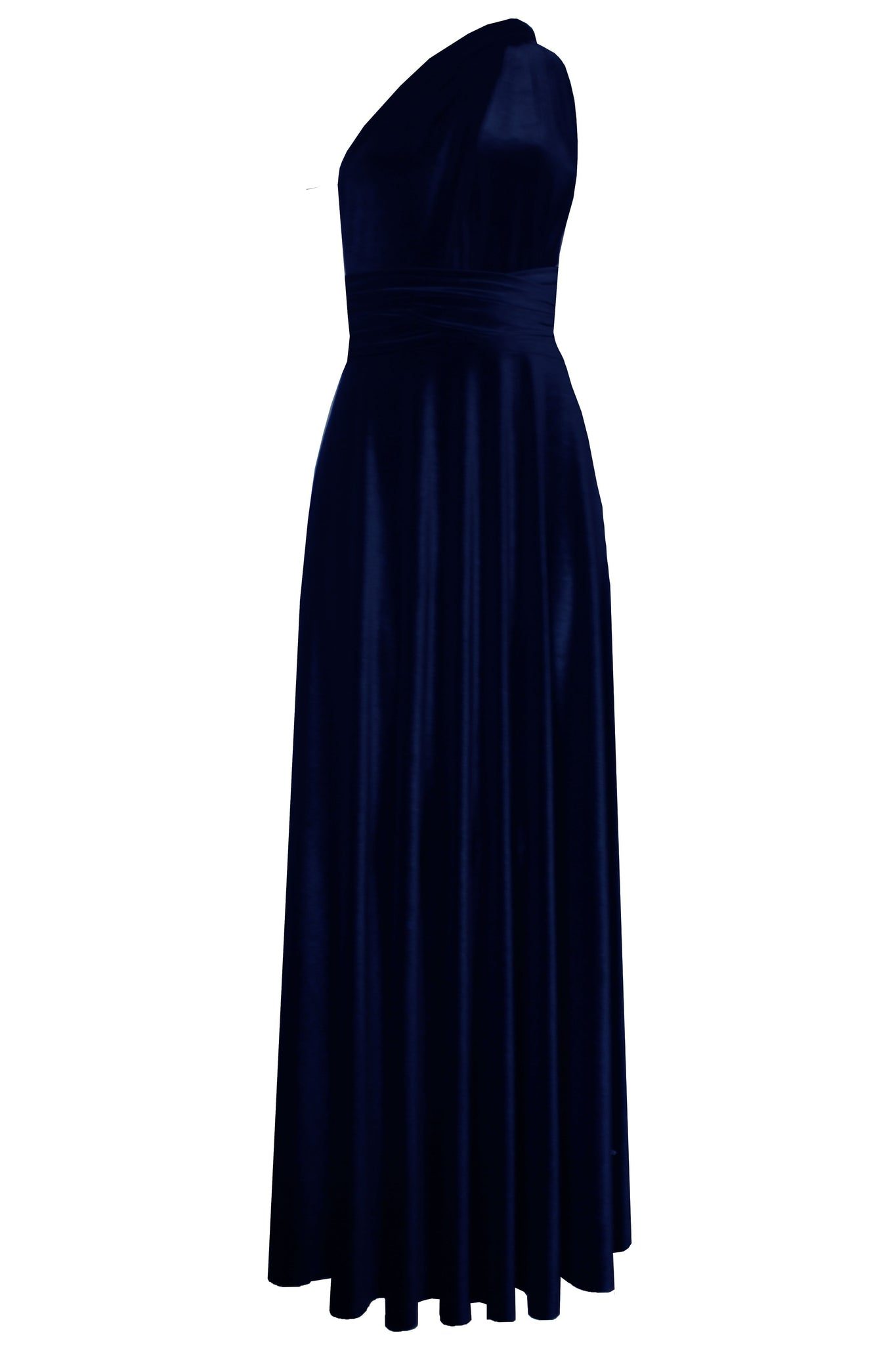 Convertible velvet dress Bridesmaids infinity dress Navy blue multi wrap dress Long plus size prom gown Formal maternity dress XS-5XL