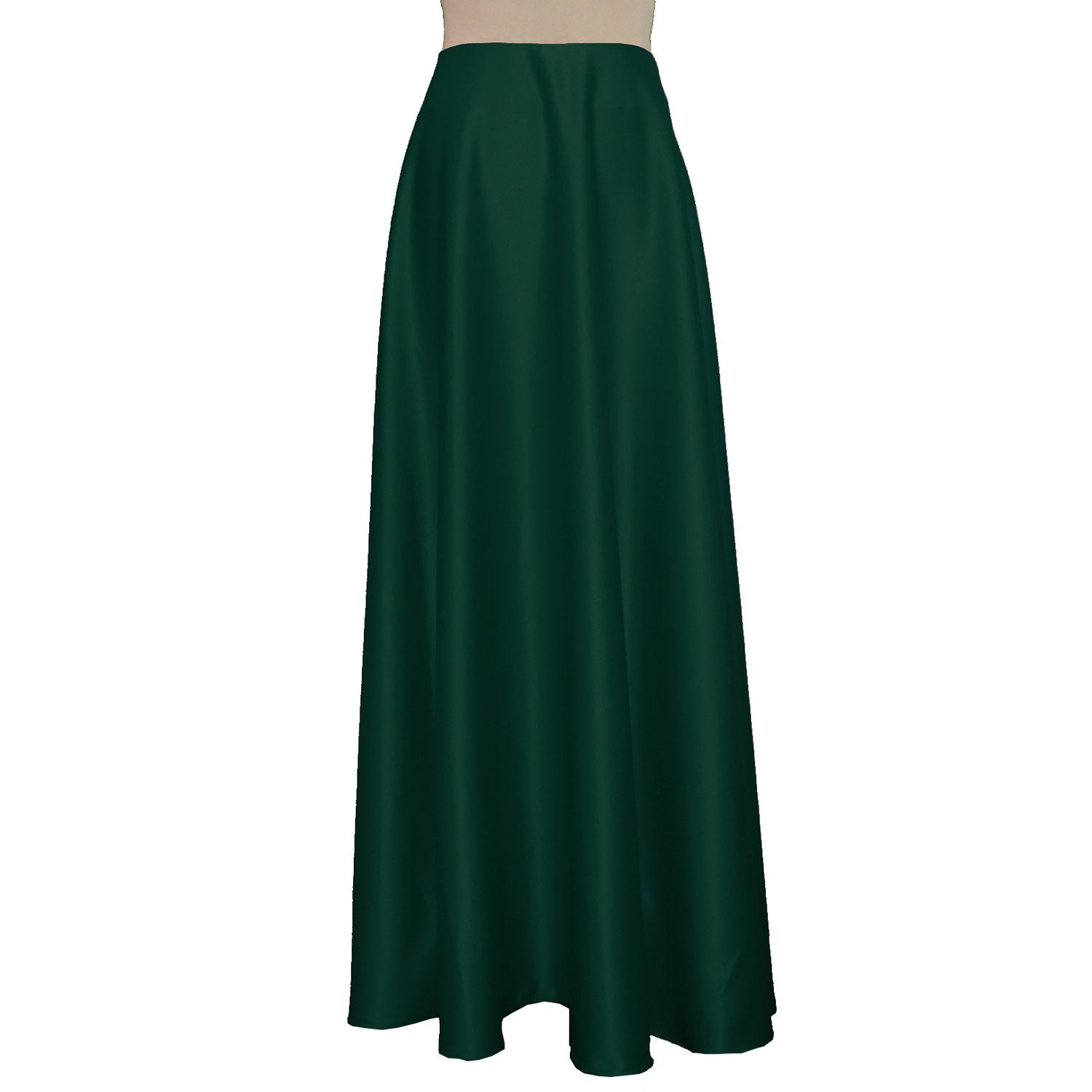 Maxi formal skirt Dark green bridesmaid wedding long skirt Duchess floor length skirt