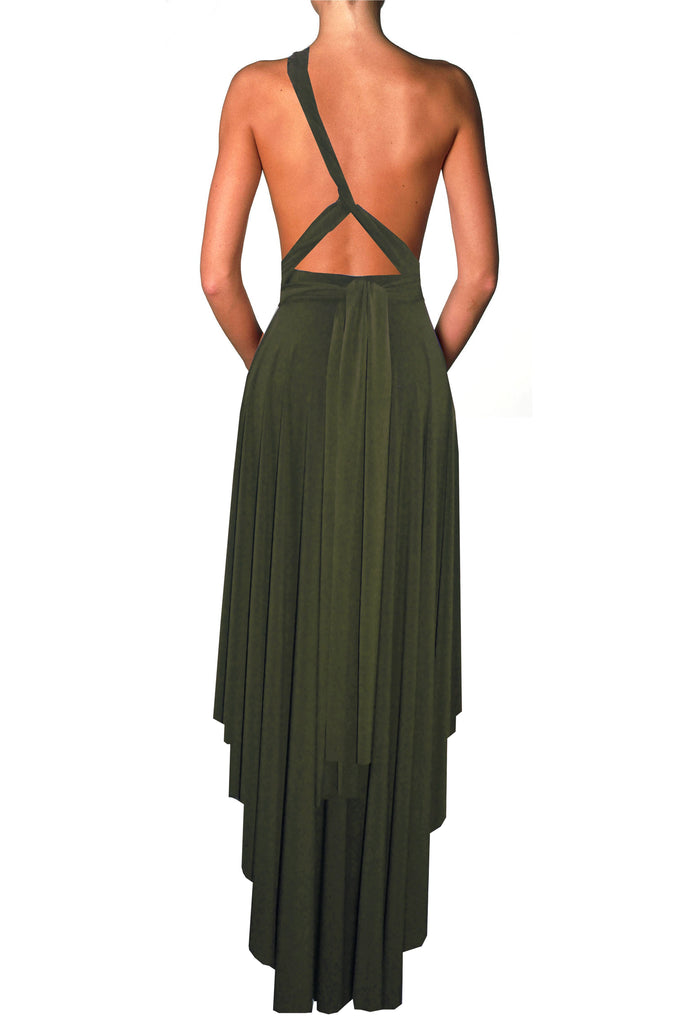 869b03df249 ... Bridesmaid infinity dress Convertible olive green dress High low  transformer prom gown Plus size evening formal ...