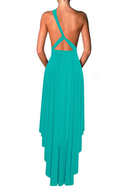 Multiway infinity dress Convertible mint green bridesmaid dress High low transformer prom gown Plus size evening formal wrap skirt XS-5XL