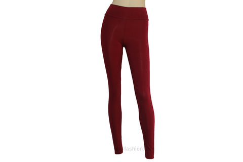 2da98b4555b7a Yoga leggings Burgundy tights Plus size high waist pants Wine jersey  activewear Ballet leggings