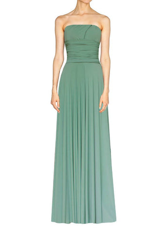 Long infinity bridesmaid dress Sage green convertible gown for prom, evening or formal occasions XS-5XL