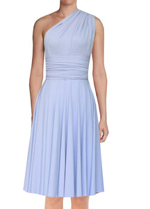 Short infinity bridesmaid dress Baby blue  convertible gown for prom evening & formal occasions XS-5XL