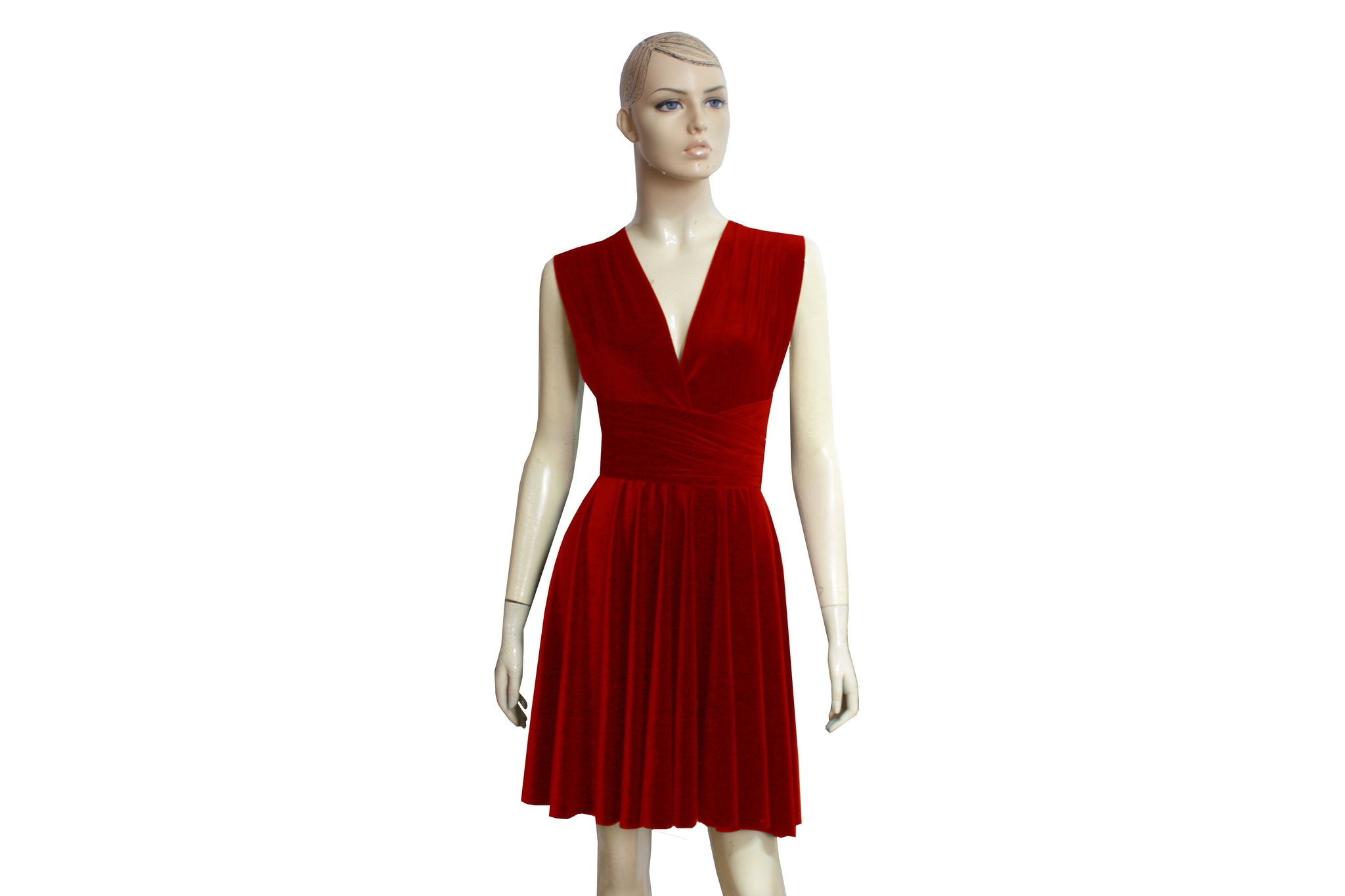 Convertible velvet dress Infinity red dress Bridesmaids infinity dress Plus size prom gown Formal dress XS-5XL