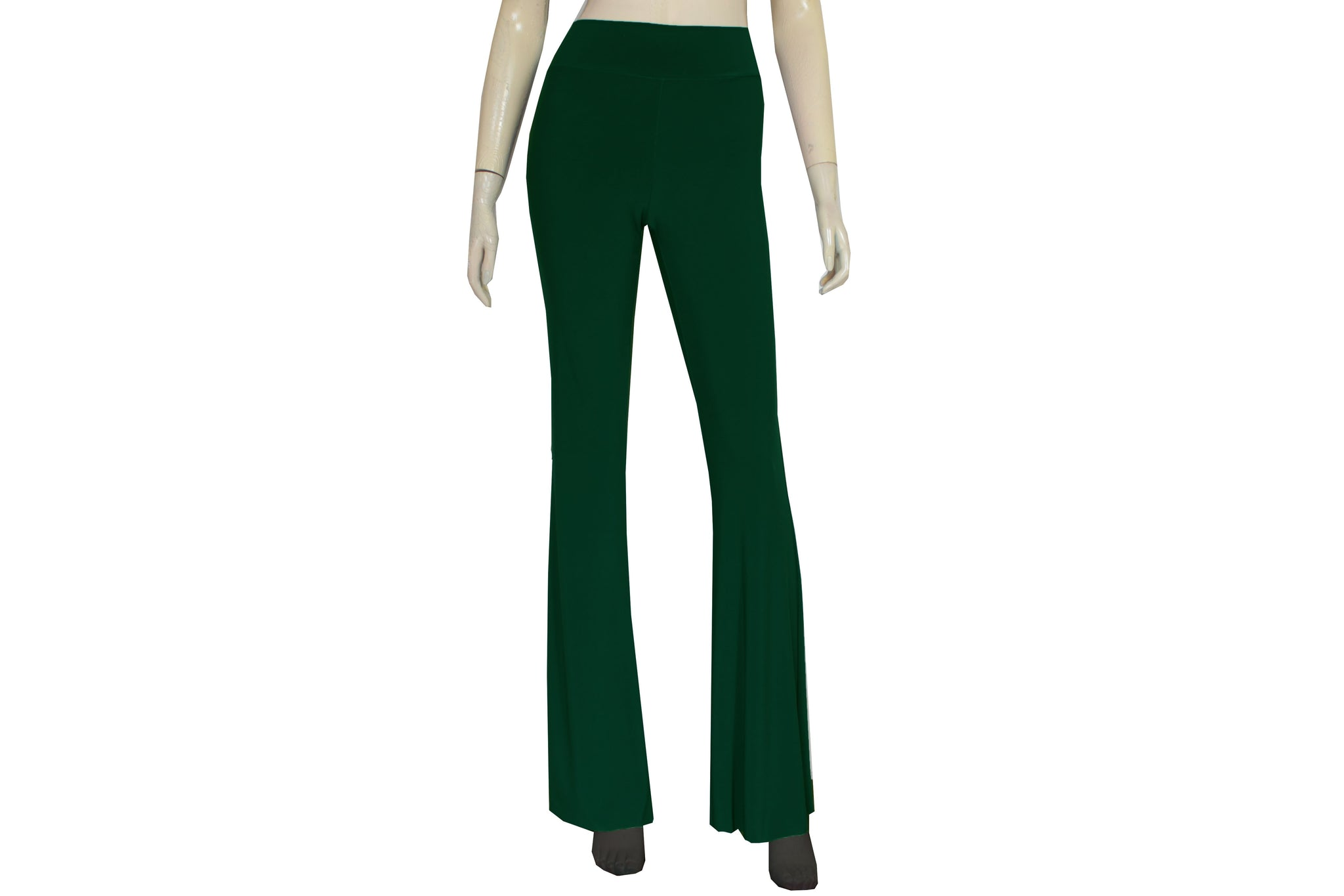 2252b0f4592c4 Flare pants Dark green bell bottom tights High waist yoga pants Plus size  pants Slim leg