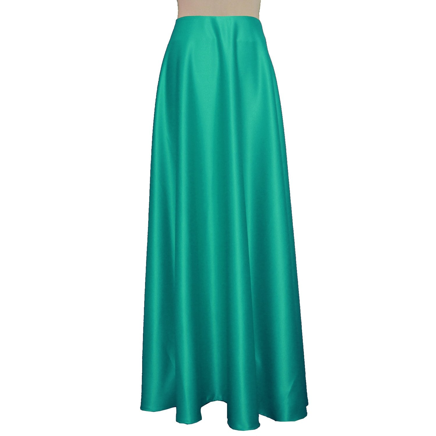 Maxi formal skirt Mint green bridesmaid wedding long skirt Duchess floor length skirt