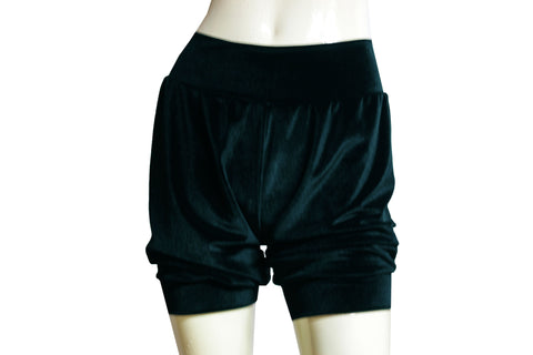 Velvet shorts Teal bloomers Dance shorts Festival bottoms Rave party shorts