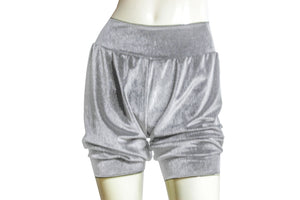 Velvet shorts Silver gray bloomers Ballet shorts Rave festival bottoms