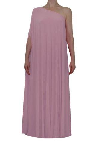Dusty pink one shoulder dress Long formal gown Sexy prom dress XS-5XL