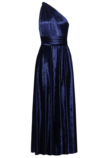 Infinity Bridesmaid Dress Crushed Velvet Navy Blue Gown Multiway Maxi Dress Convertible Plus Size Outfit Maternity Evening Fashion XS-5XL