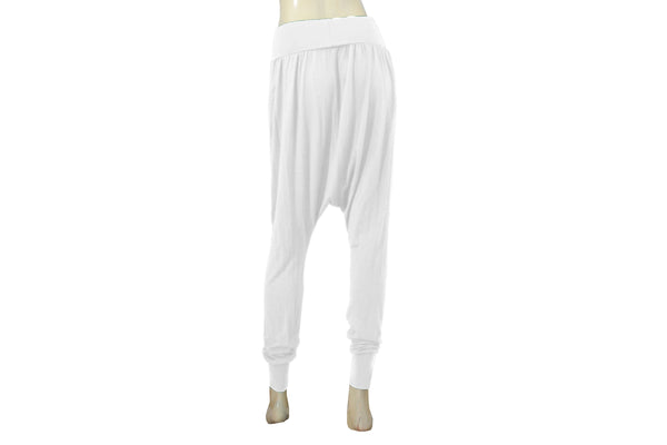 Drop Crotch Pants White Harem Pants Yoga Pants Jersey Slim Leg Aladdin Pants Low Crotch Pants