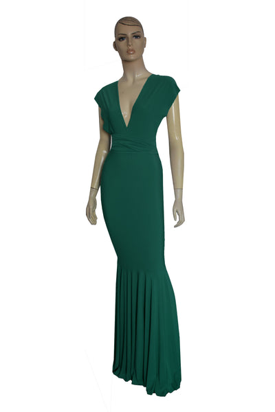 Mermaid dress Bridesmaid dark green gown Infinity dress Convertible plus size dress Prom gown