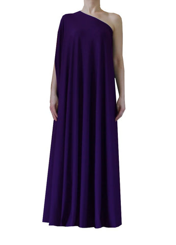 Deep purple one shoulder dress Long formal gown Sexy prom dress XS-5XL