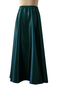 Dark teal satin skirt Bridesmaids prom formal & evening maxi skirt XS-L