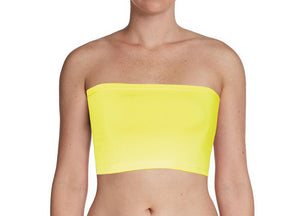 Yellow Bandeau Bra Tube Top for Twist Wrap Dress XS-5XL