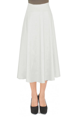 Ivory taffeta skirt in tea length for formal or evening occasions XS-4XL