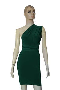 Pencil Dress Infinity Dark Green Bodycon Bridesmaid Multiway Dress Convertible Gown Hobble Dress