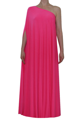 Rose pink one shoulder dress Long formal gown Sexy prom dress XS-5XL