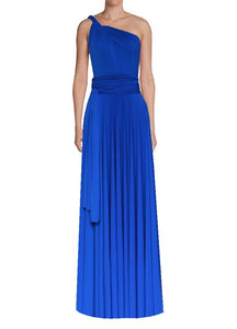 Long infinity bridesmaid dress Royal blue convertible gown for prom, evening or formal occasions XS-5XL